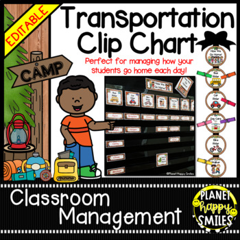 How we go home ~ Transportation Bundle (Editable) ~ Camping Theme