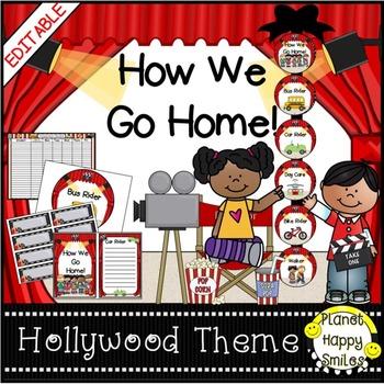 How we go home ~ Transportation Bundle (Editable) ~ Hollywood/Movies Theme