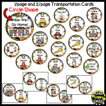 How we go home ~ Transportation Bundle (Editable) ~ Jungle Safari Theme
