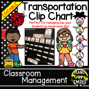 How we go home ~ Transportation Bundle (Editable) ~Ladybug Theme