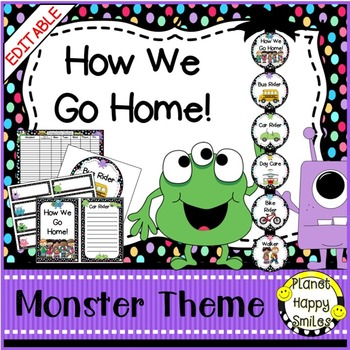 How we go home ~ Transportation Bundle (Editable) ~ Monster Theme