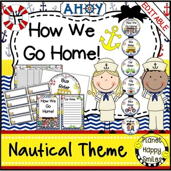 How we go home ~ Transportation Bundle (Editable) ~ Nautical Theme