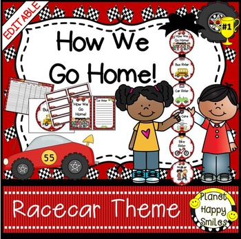 How we go home ~ Transportation Bundle (Editable) ~ Race Car Theme