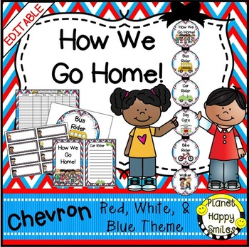 How we go home ~ Transportation Bundle (Editable) ~ Red, W