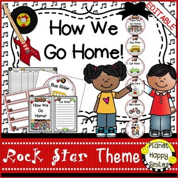 How we go home ~ Transportation Bundle (Editable) ~ Rock Star Theme
