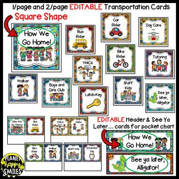 How we go home ~ Transportation Bundle (Editable) ~ Super Hero theme