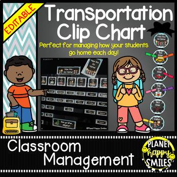 How we go home ~ Transportation Bundle (Editable) ~Teal and Chalkboard theme