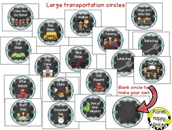 How we go home ~ Transportation Bundle (Editable) ~Teal and Chalkboard theme