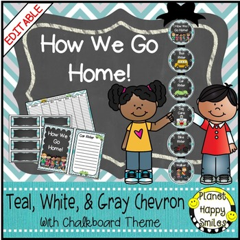 How we go home ~ Transportation Bundle (Editable) ~Teal an