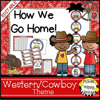 How we go home ~ Transportation Bundle (Editable) ~ Western Theme