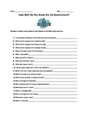 How well do you know the US government?