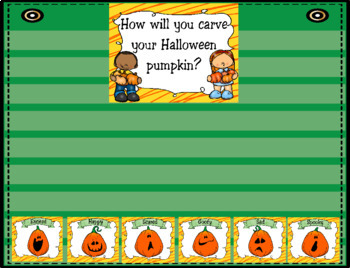 How will you carve your Halloween pumpkin? ~ Graphing Activity
