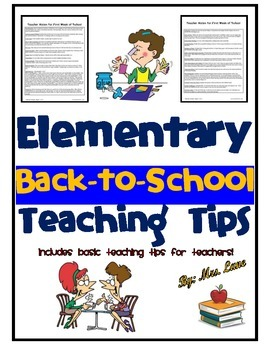 Elementary Back-to-School Teaching Tips