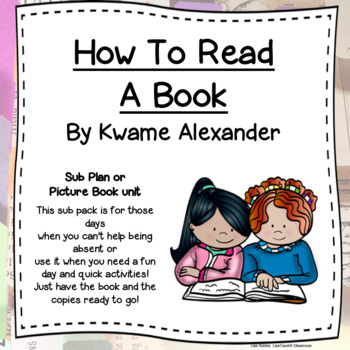 How To Read a Book by Kwame Alexander Mini- unit freebie