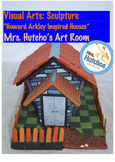 Papier Mache House Sculpture
