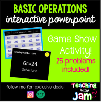 Basic Operations Interactive PowerPoint - How'd You Get That?