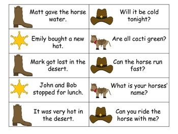 Howdy Cowboy! Statement or Question Board Game