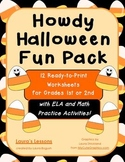 Howdy Halloween Fun Pack Worksheets Math & ELA for Gr. 1-2