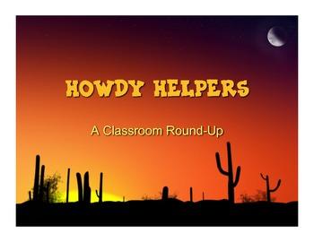 Howdy Helpers Classroom Job Descriptions