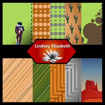 Howdy Partner {Digital Paper Background Set}