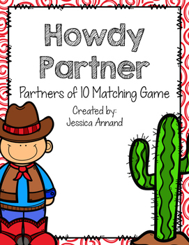 Howdy Partner - Partner of 10 Matching Game