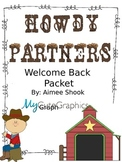 Howdy Partners Welcome Back Packet