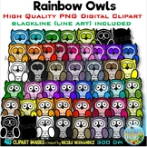 Owls Clip Art for Personal and Commercial Use