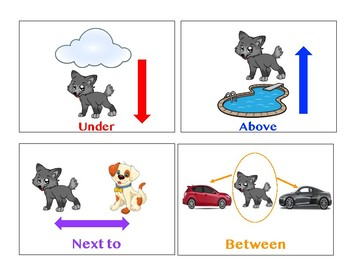 Howie the Wolfpup Preposition Cards