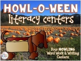 Howl-O-Ween Literacy Centers: Four Daily Five Halloween Dog Centers