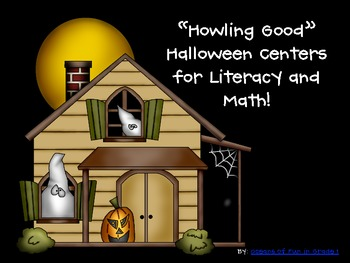 """""""Howling Good"""" Halloween Centers for Literacy and Math"""