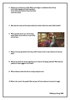 Howl's Moving Castle Film Study Guide