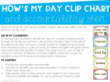 How's My Day {Chevron Edition-Classroom Management Pack}