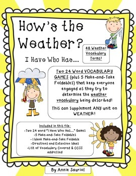 How's the Weather? I Have Who Has... 2-Pack Weather Vocabu