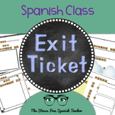 Spanish Exit Ticket! No Prep Informal Assessment, for Spanish Classes