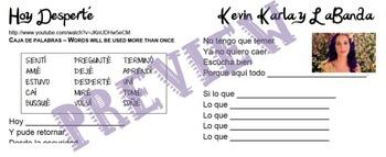 Hoy Desperté - Kevin Karla y La Banda Cloze practice with Preterite
