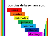 Hoy y manana (Days of the week in Spanish) power point