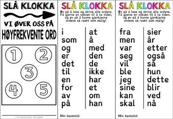 Høyfrekvente ord - minibøker med dysleksivennlig skrift