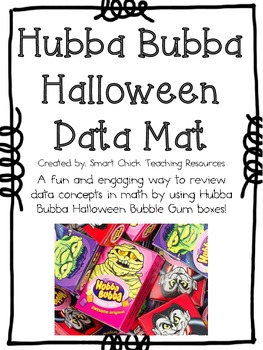 Hubba Bubba Halloween Candy Data Mat Activity ~ Great for Review!