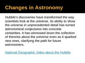 Hubble Telescope WebQuest