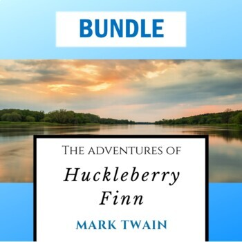"""""""Huck Finn"""" Bundle: Test, Quizzes, Study Guide, Reading Thoughts Packet, & Keys"""