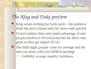 Huck Finn Ch. 16-end review PowerPoint