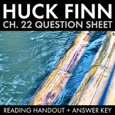 Huck Finn Ch. 22 Worksheet, Col. Sherburn Shames a Mob Scene in Huckleberry Finn
