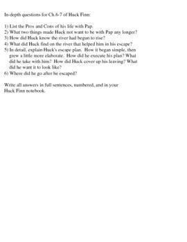 Huck Finn: Chapter 6-7