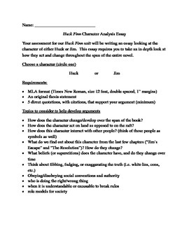 Huck Finn Character Analysis