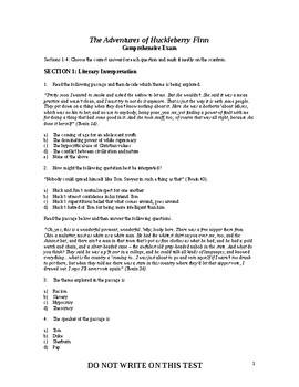 The Adventures of Huckleberry Finn - Final Test