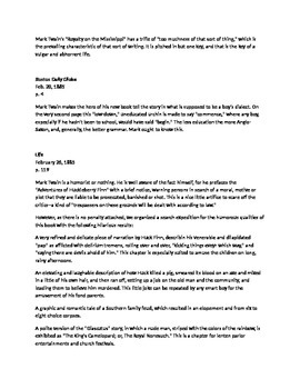 Huck Finn Reviews Total Textual Analysis