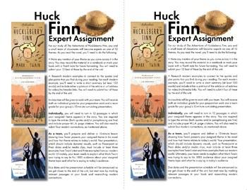 Huck Finn Team Activity, Use Mark Twain's Themes to Connect to Modern Life
