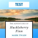 """""""Huck Finn"""" Test with Study Guide and Answer Key"""