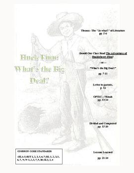 Huck Finn: What's the Big Deal?