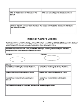 Huck Finn common core worksheets/graphic organizers
